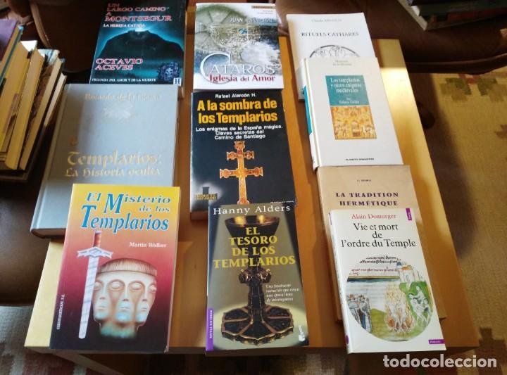 LIBROS DE TEMPLARIOS Y CÁTAROS (10). HAY 3 EN FRANCÉS. (Libros de Segunda Mano - Parapsicología y Esoterismo - Otros)
