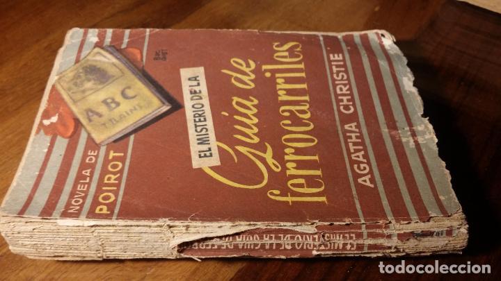 Libros de segunda mano: BIBLIOTECA ORO BOLSILLO. Nº 36. EL MISTERIOR DE LA GUÍA DE FERROCARRILES. AGATHA C. MOLINO - Foto 2 - 194339766
