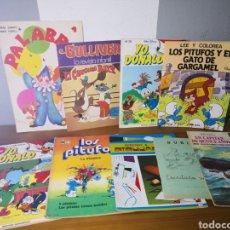 Libros de segunda mano: LOTE 9 CÓMICS / CUENTOS INFANTILES (LOS PITUFOS, YO DONALD, ETC). Lote 194346568