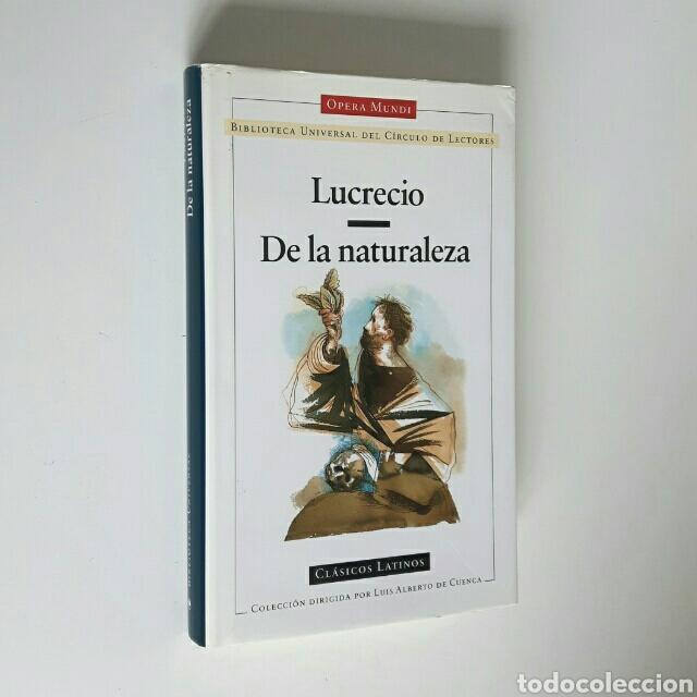 LUCRECIO. DE LA NATURALEZA DE LAS COSAS. CÍRCULO DE LECTORES,CLÁSICOS LATINOS,1988. ENC.TELA SOBREC. (Libros de Segunda Mano (posteriores a 1936) - Literatura - Otros)