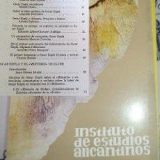 Libros de segunda mano: REVISTA DE ESTUDIOS ALICANTINOS N.º 21 1977 MONOGRAFICO OSCAR ESPLA. Lote 194350361