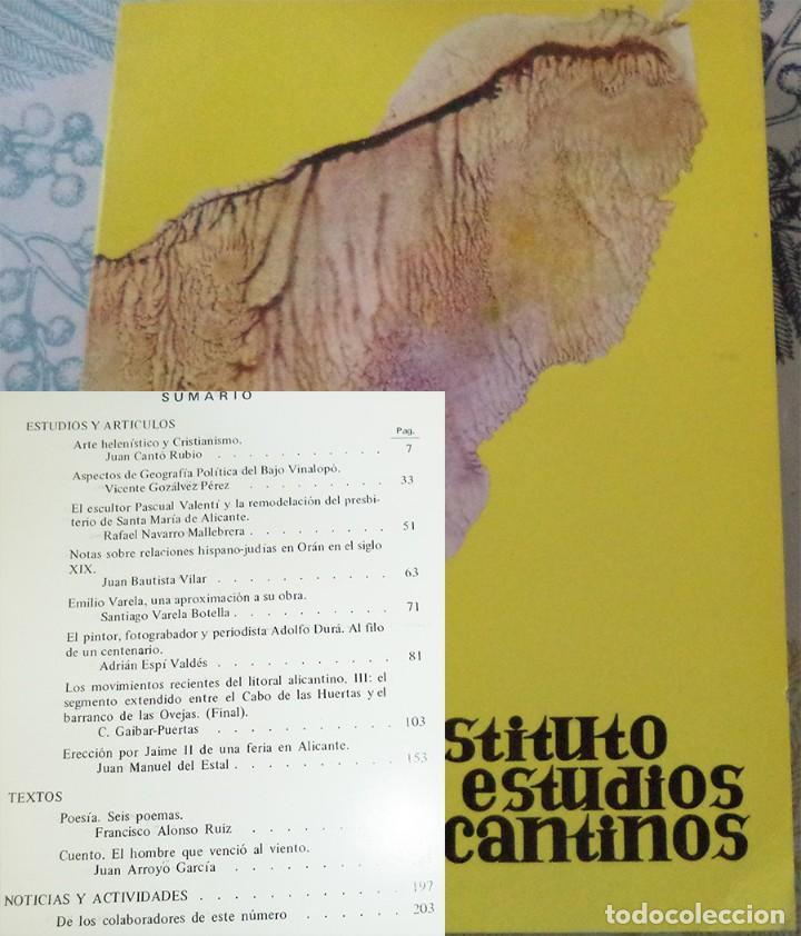 REVISTA DE ESTUDIOS ALICANTINOS N.º 16 1975 VARELA ADOLFO DUMA ARTE HELENISTICO (Libros de Segunda Mano - Historia - Otros)