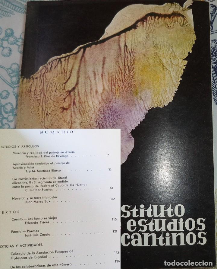 REVISTA DE ESTUDIOS ALICANTINOS N.º 11 1974 AZORIN NOVELDA MOVIMIENTO LITORAL (Libros de Segunda Mano - Historia - Otros)