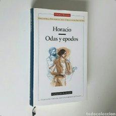 Libros de segunda mano: HORACIO. ODAS Y EPODOS. CÍRCULO DE LECTORES, CLÁSICOS LATINOS, 1997. ENC. TELA CON SOBRECUBIERTA. Lote 194350490