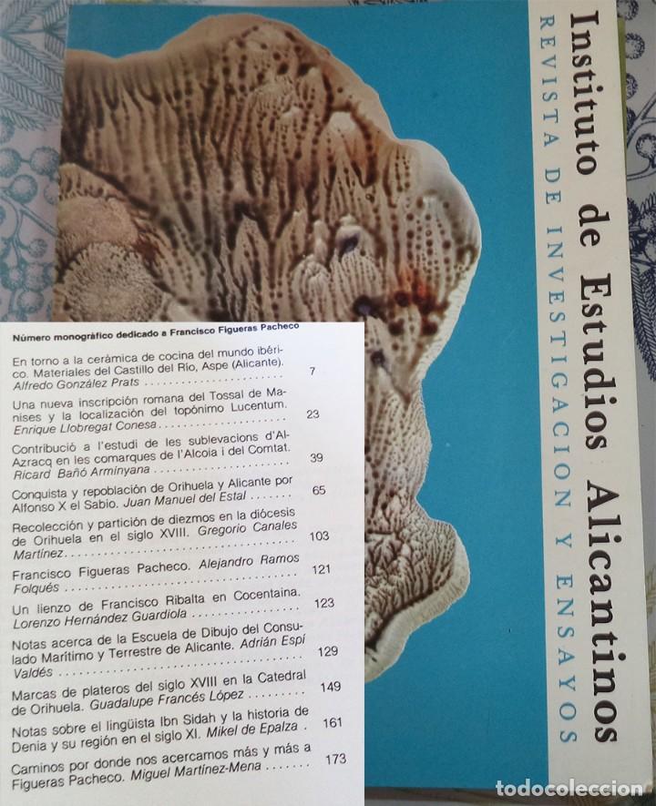 REVISTA DE ESTUDIOS ALICANTINOS N.º 33 1981 CERAMICA IBERICA ASPE MARCAS DE PLATEROS (Libros de Segunda Mano - Historia - Otros)