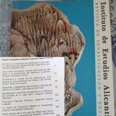 Libros de segunda mano: REVISTA DE ESTUDIOS ALICANTINOS N.º 33 1981 CERAMICA IBERICA ASPE MARCAS DE PLATEROS. Lote 194352072