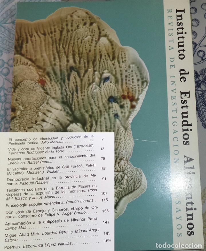 REVISTA DE ESTUDIOS ALICANTINOS N.º 32 1981 ENEOLITICO CATI FORADA BARONIA PLANES (Libros de Segunda Mano - Historia - Otros)