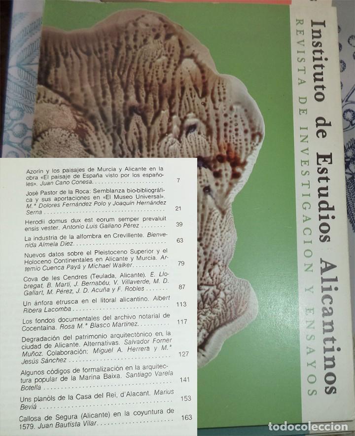 REVISTA DE ESTUDIOS ALICANTINOS N.º 34 1981 AZORIN ALFOMBRAS CREVILLENTE COVA ELS CENDRES (Libros de Segunda Mano - Historia - Otros)