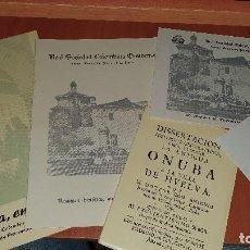 Libros de segunda mano: REAL SOCIEDAD COLOMBINA ONUBENSE, VARIOS IMPRESOS, 1973. Lote 194394258