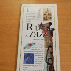 Libros de segunda mano: RUTA DE L'ART (PILAR RIBAL I SIMÓ) EL DÍA DEL MUNDO. Lote 194404711