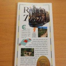 Libros de segunda mano: RUTA DEL TREN (PERE BRUNET) EL DÍA DEL MUNDO. Lote 194405118