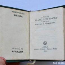 Libros de segunda mano: LA VIDA DE LAZARILLO SE TORMES -CRISOL Nº010 1956 TOLLE LEGE (8,2 X 6,7 CM). Lote 194459008