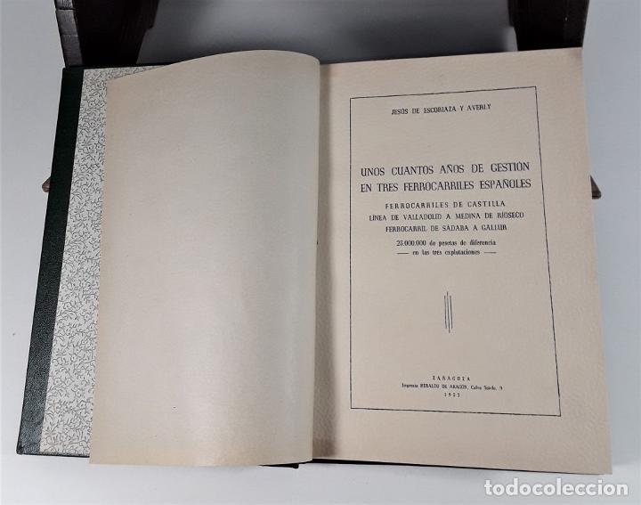 Libros de segunda mano: FOLLETOS SIN REFUTAR. 4 EJEM. EN I TOMO. J. ESCORIAZA. IMP. H. DE ARAGÓN. ZARAGOZA. 1955. - Foto 18 - 176265244