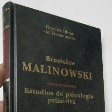 Libros de segunda mano: ESTUDIOS DE PSICOLOGÍA PRIMITIVA - BRONISLAW MALINOWSKI. Lote 194491255