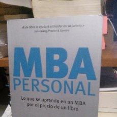 Libros de segunda mano: MBA PERSONAL, JOSH KAUFMAN, CONECTA. Lote 194514418