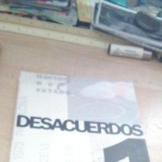 Libros de segunda mano: DESACUERDOS 1 - SOBRE ARTE, POLITICAS Y ESFERA PUBLICA EN EL ESTADO ESPAÑOL - 2004, 1ª EDIC.. Lote 194520200