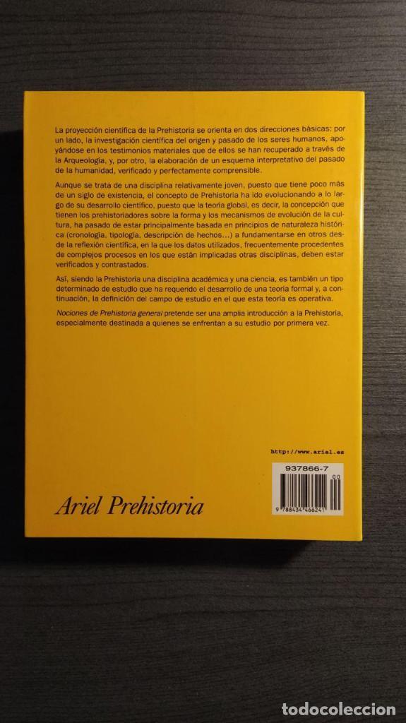 Libros de segunda mano: NOCIONES DE PREHISTORIA GENERAL - JORGE JUAN EIROA ARIEL EDITORES 1ª Edición 2000 - Foto 5 - 194525098