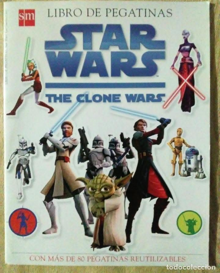 LIBRO PEGATINAS STAR WARS THE CLONE WARS SM 2008 COMPLETO (Libros de Segunda Mano - Literatura Infantil y Juvenil - Otros)