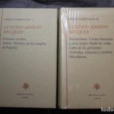 Libros de segunda mano: GUSTAVO ADOLFO BÉCQUER. OBRAS COMPLETAS. BIBLIOTECA CASTRO TURNER. 2 VOLÚMENES. Lote 194535972
