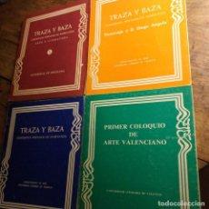 Libros de segunda mano: 4 TOMOS TRAZA Y BAZA. UNIVERSIDADES DE VALENCIA Y BARCELONA. AÑOS 70.. Lote 194536652