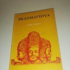Libros de segunda mano: ANNIE BESANT , BRAHMAVIDYA. Lote 194542218