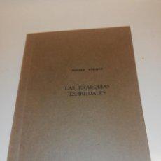 Libros de segunda mano: RUDOLF STEINER, LAS JERARQUIAS ESPIRITUALES. Lote 194542486