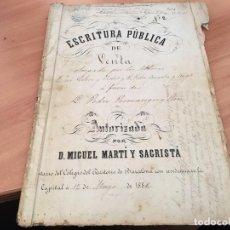 Libros de segunda mano: ESCRITURA PUBLICA DE VENTA MANUSCRITA BARCELONA 1882. Lote 194587458