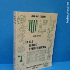 Livros em segunda mão: ILLES PITIÜSES.II. ELS LLIBRES D'ENTREVENIMENTS. JOAN MARÍ CARDONA.. Lote 194588136