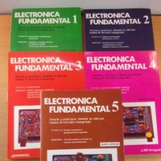 Libros de segunda mano: ELECTRÓNICA FUNDAMENTAL / J.Mª ANGULO / 1986. PARANINFO / TOMOS DEL 1 AL 5. Lote 194588327