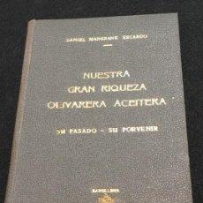 Libros de segunda mano: DANIEL MANGRANÉ ESCARDÓ. NUESTRA GRAN RIQUEZA OLIVARERA ACEITERA. SU PASADO - SU PORVENIR. 1965.. Lote 194600470