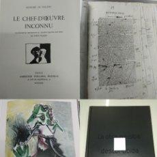 Libros de segunda mano: LA OBRA MAESTRA DESCONOCIDA BASADO RELATO LE CHEF D'OEUVRE INCONNU HONORÉ BALZAC PABLO PICASSO NUEVO. Lote 194617720