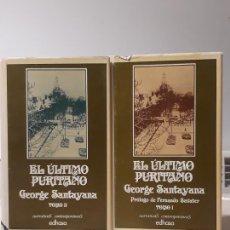 Libros de segunda mano: LIBROS EL ÚLTIMO PURITANO GEORGE SANTAYANA. Lote 194639627
