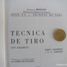 Libros de segunda mano: CAZA. TECNICA DE TIRO CON ESCOPETA. Lote 194651180