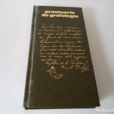 Libros de segunda mano: PRONTUARIO DE GRAFOLOGIA.Mª ROSA PANADÉS.. Lote 194660625