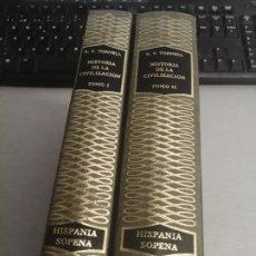 Libros de segunda mano: HISTORIA DE LA CIVILIZACIÓN / RICARDO VERA TORNELL / 2 TOMOS / ED. RAMÓN SOPENA 1976. Lote 194660785