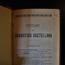 Libros de segunda mano: EPÍTOME DE GRAMÁTICA CASTELLANA.. Lote 194668560