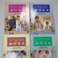 Libros de segunda mano: COSTURA Y MODA CURSO PRÁCTICO CON PATRONES A ESCALA AÑO 1987 EDITORIAL ORBIS 4 VOLÚMENES JOY MAYBEW. Lote 194668990