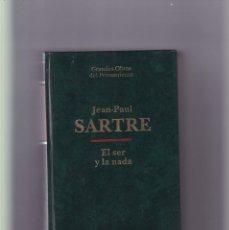 Libros de segunda mano: EL SER Y LA NADA - JEAN PAUL SARTRE - ALTAYA 1993. Lote 194674915