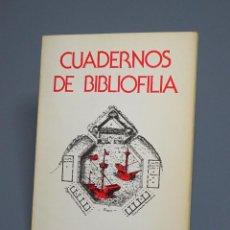 Libros de segunda mano: CUADERNOS DE BIBLIOFILIA - REVISTA CUATRIMESTRAL - NÚMERO 11 - JUNIO 1983. Lote 194679383