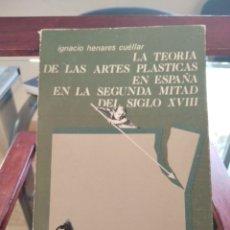 Libros de segunda mano: LA TEORIA DE LAS ARTES PLASTICAS EN ESPAÑA EN LA SEGUNDA MITAD DEL SIGLO XVIII-I. HENARES-1977. Lote 194685165