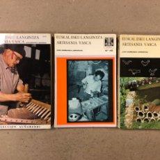 Libros de segunda mano: EUSKAL EUSKO-LANGINTZA - ARTESANÍA VASCA. JUAN GARMENDIA LARRAÑAGA. LOTE DE 3 TOMOS. Lote 194686246