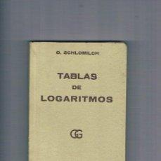 Libros de segunda mano: TABLAS DE LOGARITMOS TRIGONOMETRICAS Y DE CONSTANTES USUALES GUSTAVO GILI O SCHLOMILCH 1970. Lote 194713777