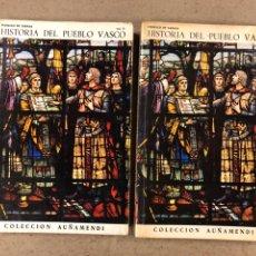 Libros de segunda mano: HISTORIA DEL PUEBLO VASCO. FEDERICO DE ZABALA (VOL. II Y III). COLECCIÓN AUÑAMENDI N° 87 Y 96.. Lote 194716641
