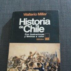 Libros de segunda mano: HISTORIA DE CHILE. WALTERIO MILLAR . ZIG-ZAG , SANTIAGO DE CHILE. Lote 194730768