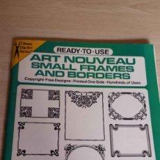 Libros de segunda mano: ART NOUVEAU. SMALL FRAMES AND BORDERS. DESIGNED BU TED MENTEN. ART NOUVEAU. . Lote 194735282