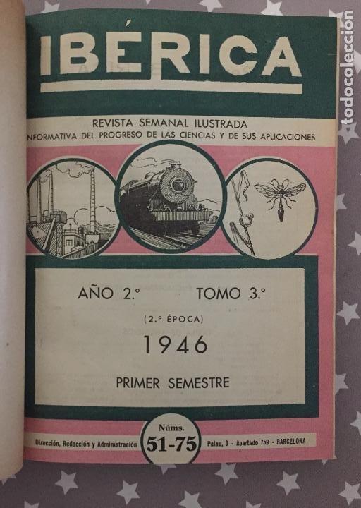 REVISTA IBERICA, AÑO 2, TOMO 3, 1946 PRIMER SEMESTRE (Libros de Segunda Mano - Ciencias, Manuales y Oficios - Otros)