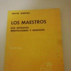 Libros de segunda mano: DAVID ANRIAS, LOS MAESTROS, SUS MEDITACIÓNES Y GRAFICOS. Lote 194744153