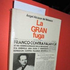 Libros de segunda mano: LA GRAN FUGA. ALCÁZAR DE VELASCO, ÁNGEL COL. ESPEJO DE ESPAÑA. ED. PLANETA. BARCELONA 1977. Lote 194751242