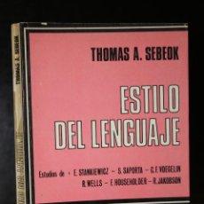 Libros de segunda mano: ESTILO DEL LENGUAJE.. Lote 194777092