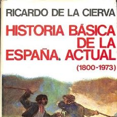 Libros de segunda mano: HISTORIA BASICA DE LA ESPAÑA ACTUAL (1800-1973) - RICARDO. DE LA CIERVA - EDITORIAL PLANETA. Lote 194792661